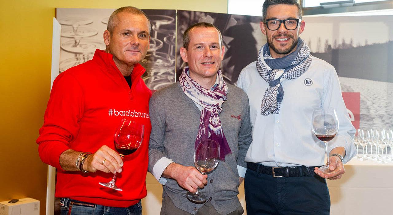 Tre partecipanti al BaroloBrunello di Lugano