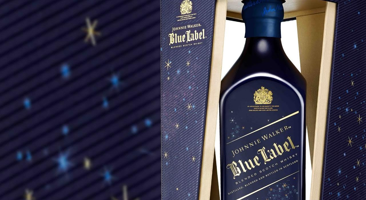 Bottiglia di Johnnie Walker Blue Label Winter Edition