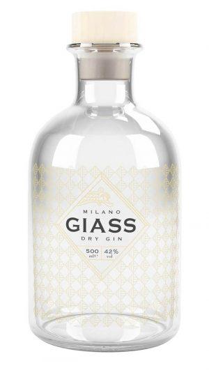 Bottiglia di Giass Dry Gin Milano
