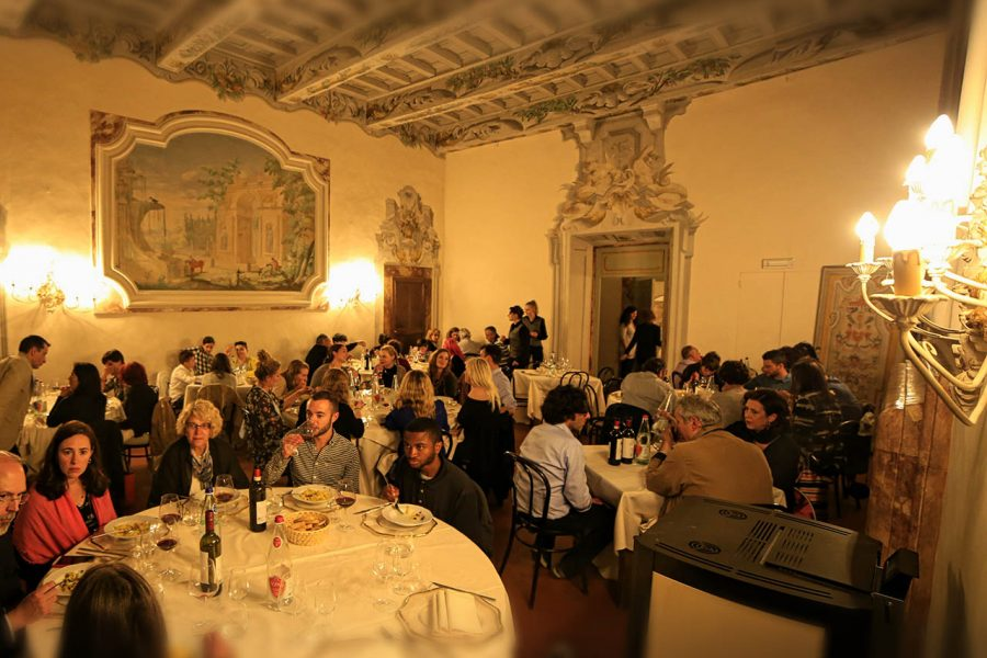 Castello di Meleto, cena