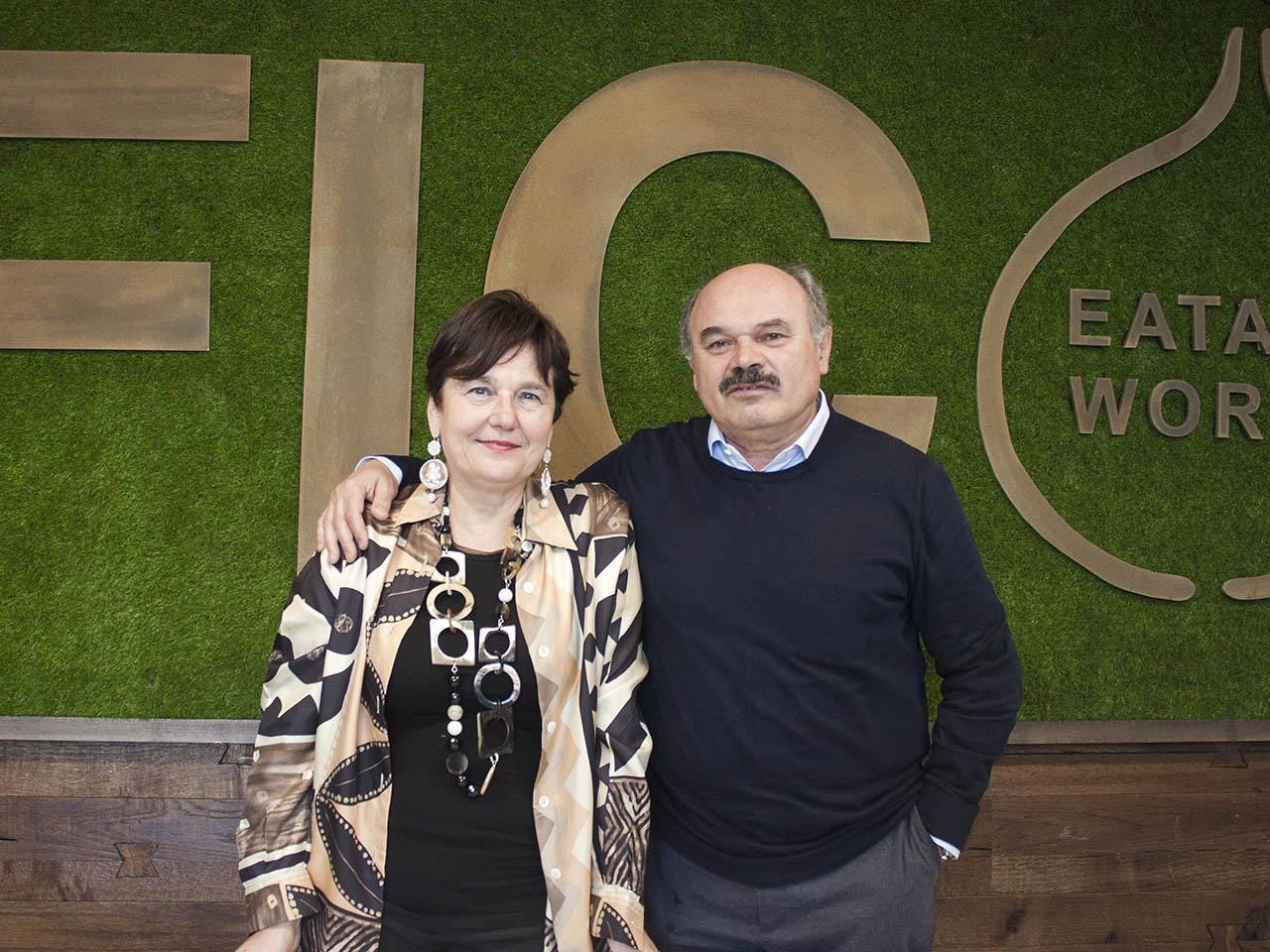 Tiziana Primori e Oscar Farinetti