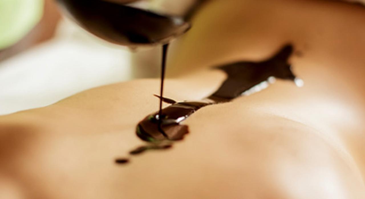 Massaggio con il cioccolato