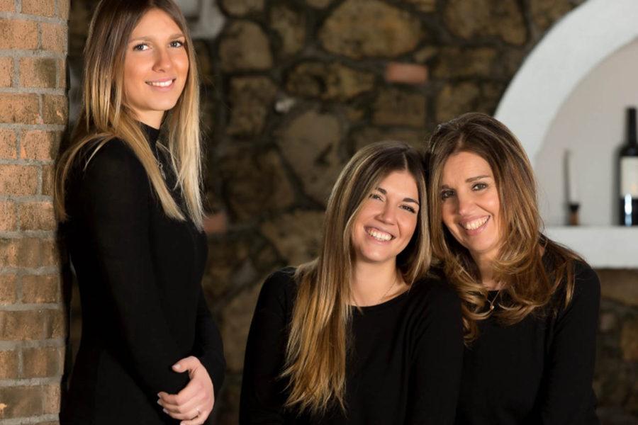 Ronchi di Manzano - Roberta Borghese con le figlie Lisa e Nicole