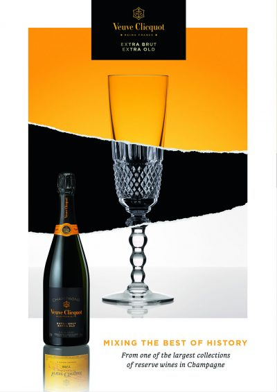 Veuve Clicquot, Extra Brut Extra Old, bicchiere