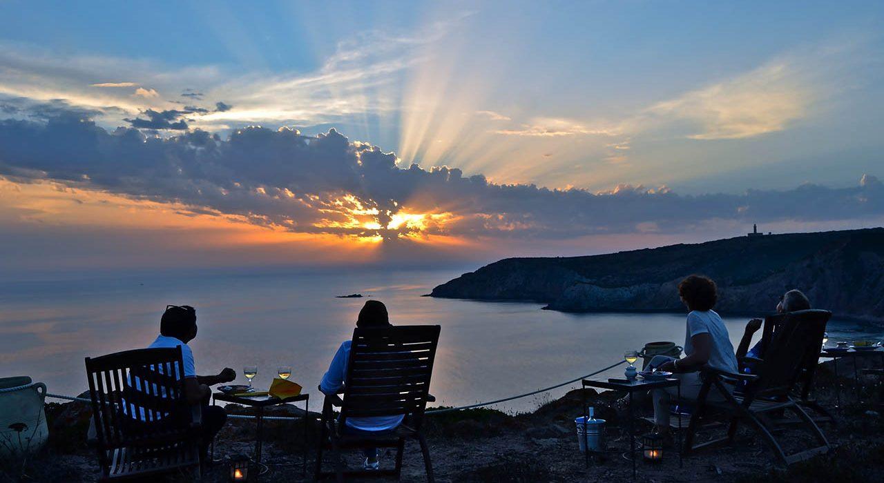 Poecylia, tramonto